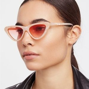 Free People Vienna Cat Eye Pearly Pink Sunglasses